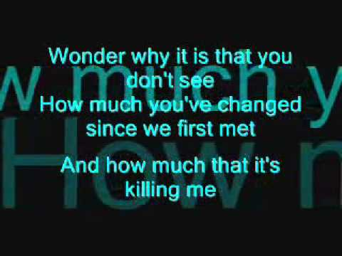 Hoobastank - I dont think I love you (lyrics on screen)