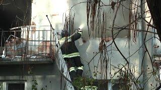 Пожар после КТО в Нальчике потушен