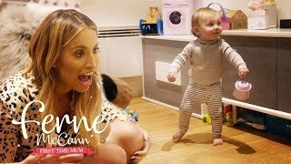 Watch Baby Sunday Walking for the First Time | Ferne McCann First Time Mum