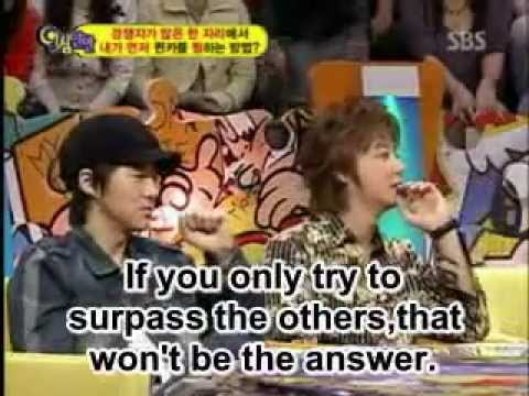 Shinhwa JunJin and Andy imitate Hyesung [ENG SUB]