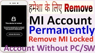 Mi account remove  Note3 - Sadat Hasan
