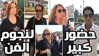 جنازة والدة يسرا .. حضور كبير للنجوم أحمد حلمى وآسر ياس ...