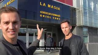 Stu Holden and Steve Nash Visit Barcelona's Famed La Masia Academy