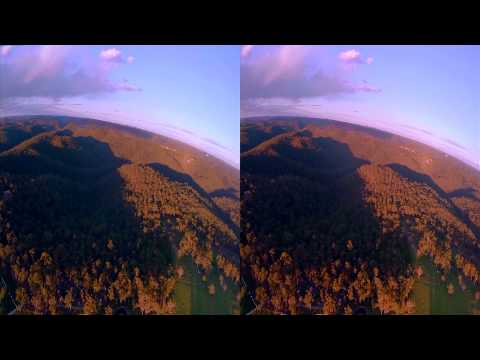 GoPro Dual Hero 3D 60 fps quad flight