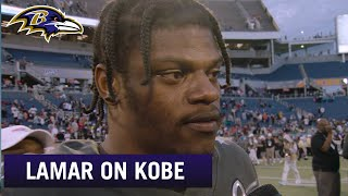 Lamar Jackson Offers Condolences After Kobe Bryant's Passing   Baltimore Ravens