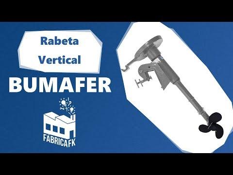 Rabeta Vertical de Popa Barco para Motor 4 a 6,5 CV Bumafer - Vídeo explicativo