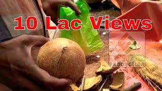 2 मिनट में नारियल की गिरी को साबुत कैसे निकालें ? - Fastest way to remove coconut flesh from shell