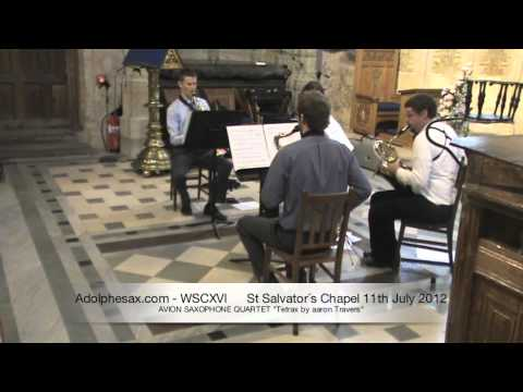 WSCXVI AVION SAXOPHONE QUARTET   Tetrax by aaron Travers
