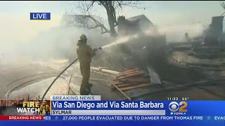 Homes Gutted By Creek Fire In Sylmar