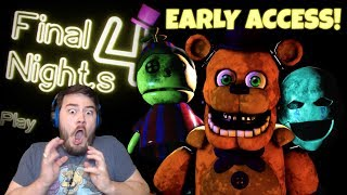 FREDBEAR AND SPRING BONNIE ARE TERRIFYING!! | Final Nights 4 (Nights 1 and 2) - EARLY ACCESS!