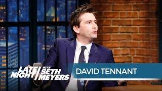 David Tennant Talks Playing Jessica Jones' Charming Villain - Late Night with Seth Meyers