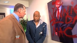 Mr. McMahon talks to General Manager Teddy Long