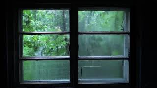 Relaxing RAIN SOUNDS in house with thunderstorm. Music for relaxing, sleeping, spa, chilling...