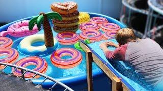 Human Water Slide Skeeball!! (EXTREME CARNIVAL GAME)