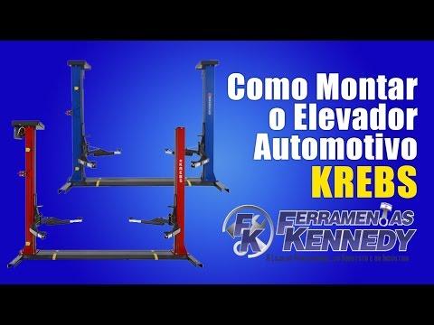 Elevador Automotivo 2,5Ton Ef2500 Vermelho Krebs - 220V Trif - Vídeo explicativo
