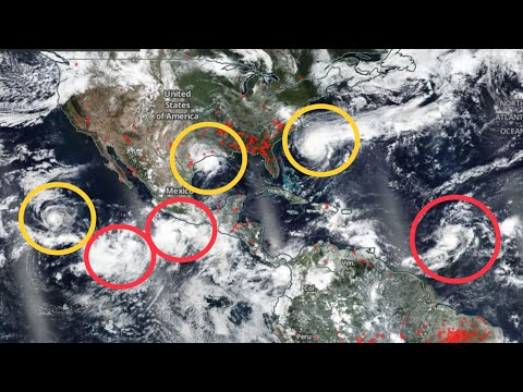 Global Weather / Earthquakes / 6 Tropical Storms! / WATCH Hurricane Jerry / September 18 2019