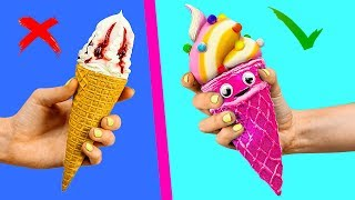 Cartoon Food vs Real Food Challenge / Squishy Burger