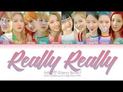 Cherry Bullet (체리블렛) - Really Really (네가 참 좋아) (Color Coded Lyrics Eng/Rom/Han/가사)