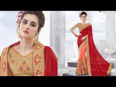 Half Saree Blouse Designs: Designer Sarees Models of Newest Indian Half Saris @ Lowest Price Online