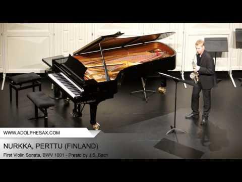 Dinant2014 NURKKA Perttu First Violin Sonata, BWV 1001 Presto by J S Bach