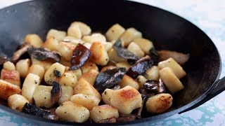 Potato Gnocchi with Sage Butter and Mushrooms