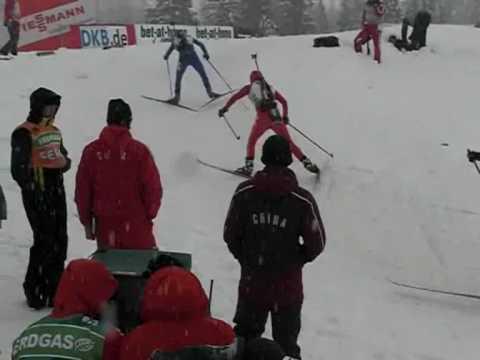 Biathlon-Weltcup Hochfilzen: An der Strecke