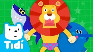Lion in Underwear ♪ | Animal Songs | Sing Along with Tidi Songs for Children★Tidi Kids