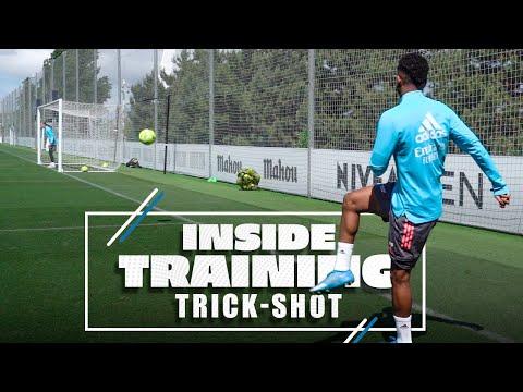 INSANE RODRYGO TRICK SHOT   Real Madrid training