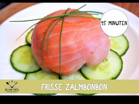 Snel voorgerecht: Zalmbonbon met bleekselderij en appel