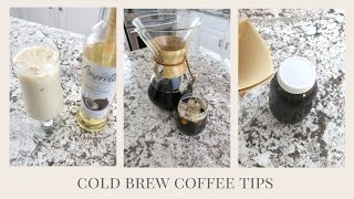 HOW TO MAKE COLD BREW COFFEE & ICED LATTE