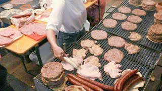 Italy Street Food. Huge Burgers, Sausages, Ribs, Melted Cheese, Crepes, Gnocchi and More