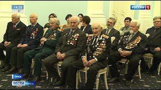 Юбилейные медали ветеранам Великой Отечественной войны сегодня торжественно вручил губернатор Омской области