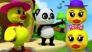 Cinq petits canards | comptines pour enfants | canard chanson | Five Little Ducks | Baby Bao Panda