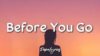 Before You Go - Lewis Capaldi (Lyrics) 🎵