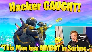 Tfue Dies and Spectates Hacker CHEATING in Pro Scrims!