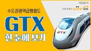 """수도권광역급행철도, """"GTX"""" 노선 한눈에 정리! - 어디가 올랐을까?"""