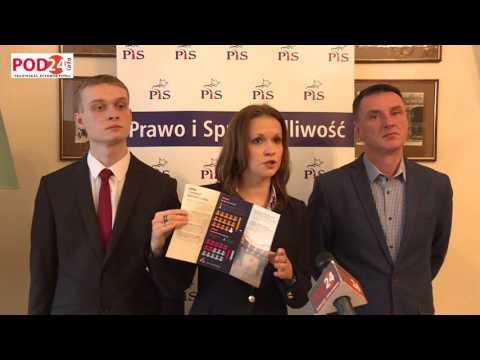 Konferencja prasowa PiS w Jarosławiu