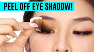 Peel Off Eye Shadow! Does it work?  | TINA TRIES IT