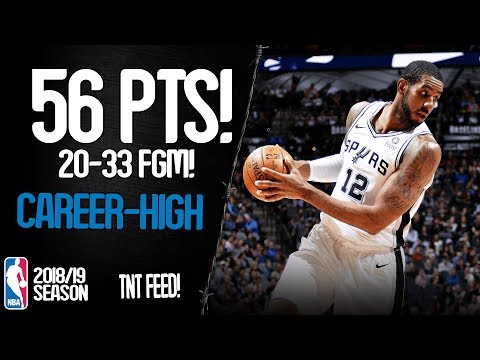 LaMarcus Aldridge Career-High 56 Points vs Oklahoma City Thunder - UNREAL Highlights 10/01/2019