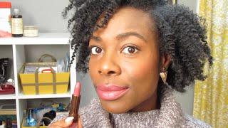 Lip Swatch: SheaMoisture Shea Butter Luscious Lipstick | KinkyCurlyCoilyMe.com