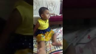 baby playing alone