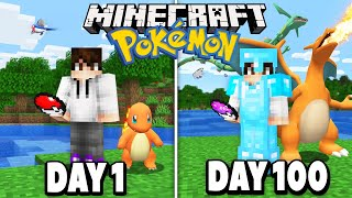 I spent 100 DAYS in Minecraft Pokémon.. here's what happened.. (Pixelmon)
