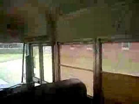 Blue Bird Bus >> Blue Bird School Bus Interior - YouTube