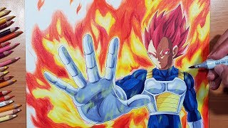 Drawing VEGETA Super Saiyan GOD! From The Movie: Dragon Ball Super: Broly!