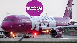 *Inaugural with water salute* WOW Air A321 arriving & departing YUL