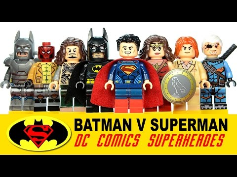 Batman v Superman Dawn of Justice DC Super Heroes LEGO KnockOff ...