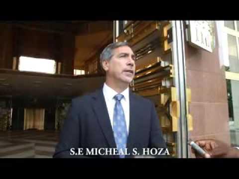 L'Ambassadeur des Etats-Unis, Michael Stephen Hoza reçu ce 05 novembre 2015 par le Chef de l'Etat