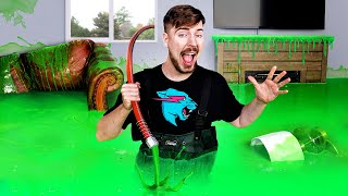 I Filled My Brother's House With Slime & Bought Him A New One