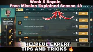 Season 18 Week 5 Royale Pass Mission Explained PUBG Mobile | Week 5 All RP Missions Pubg Season 18