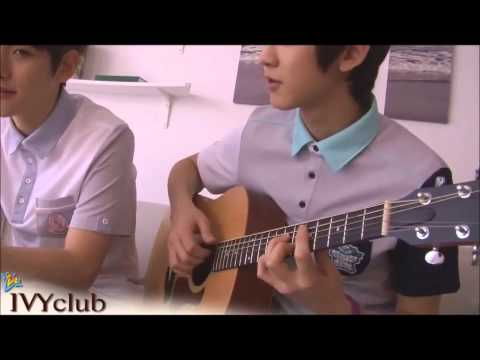Baekhyun and Chanyeol playing the guitar + Baekhyun's singing